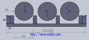 Mechanical Three Paddle Fiber Polarization Controller
